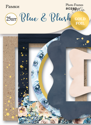 25pcs Blue & Blush frames and tags - Crafty Wizard