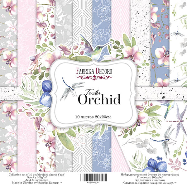 "8"" x 8"" paper pad - Tender Orchid - Crafty Wizard"