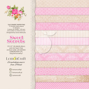 "12"" x 12"" paper pad - Sweet Secrets - Crafty Wizard"