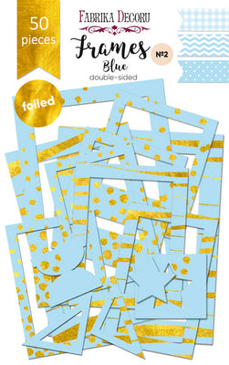 50pcs Gold Foil Blue Photo Frames - Crafty Wizard