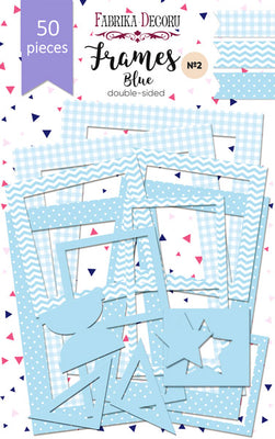 50pcs Blue Photo Frames - Crafty Wizard