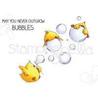 Stamping Bella - Bubble Chicks - Rubber Stamp Set - Crafty Wizard