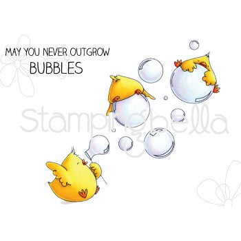 Stamping Bella - Bubble Chicks - Rubber Stamp Set