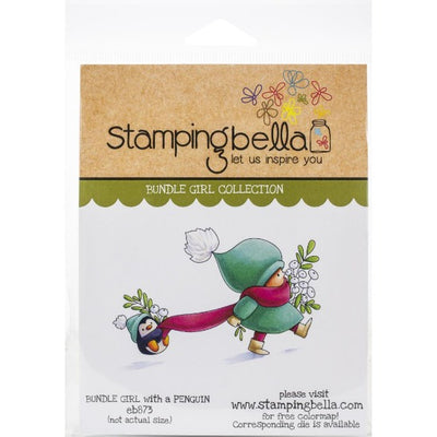 Stamping Bella  - Bundle Girl with a Penguin - Rubber Stamp Set - Crafty Wizard