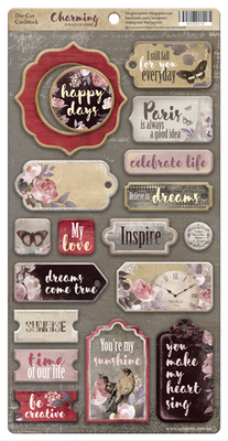 18pcs Charming chipboard die cuts