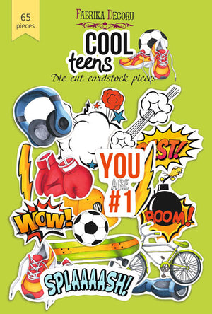 65pcs Cool Teens die cuts