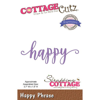 Cottage Cutz - 'Happy' Sentiment Cutting Die - Crafty Wizard