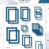 39pcs Dark Blue Photo Frames