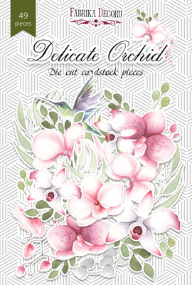 49pcs Delicate Orchid die cuts - Crafty Wizard