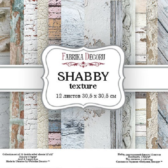 "12"" x 12"" paper pad - Shabby Texture - Crafty Wizard"