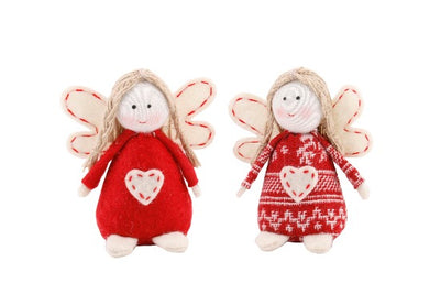 2 Nordic Felt Hanging Beanbag Angels - Crafty Wizard