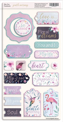18pcs Gentle Morning chipboard die cuts