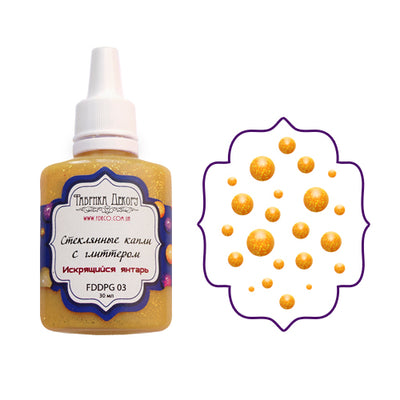 Liquid glass glitter drops - Sparkling amber - Crafty Wizard