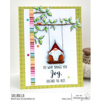 Stamping Bella - Gnome on a Swing - Rubber Stamp Set
