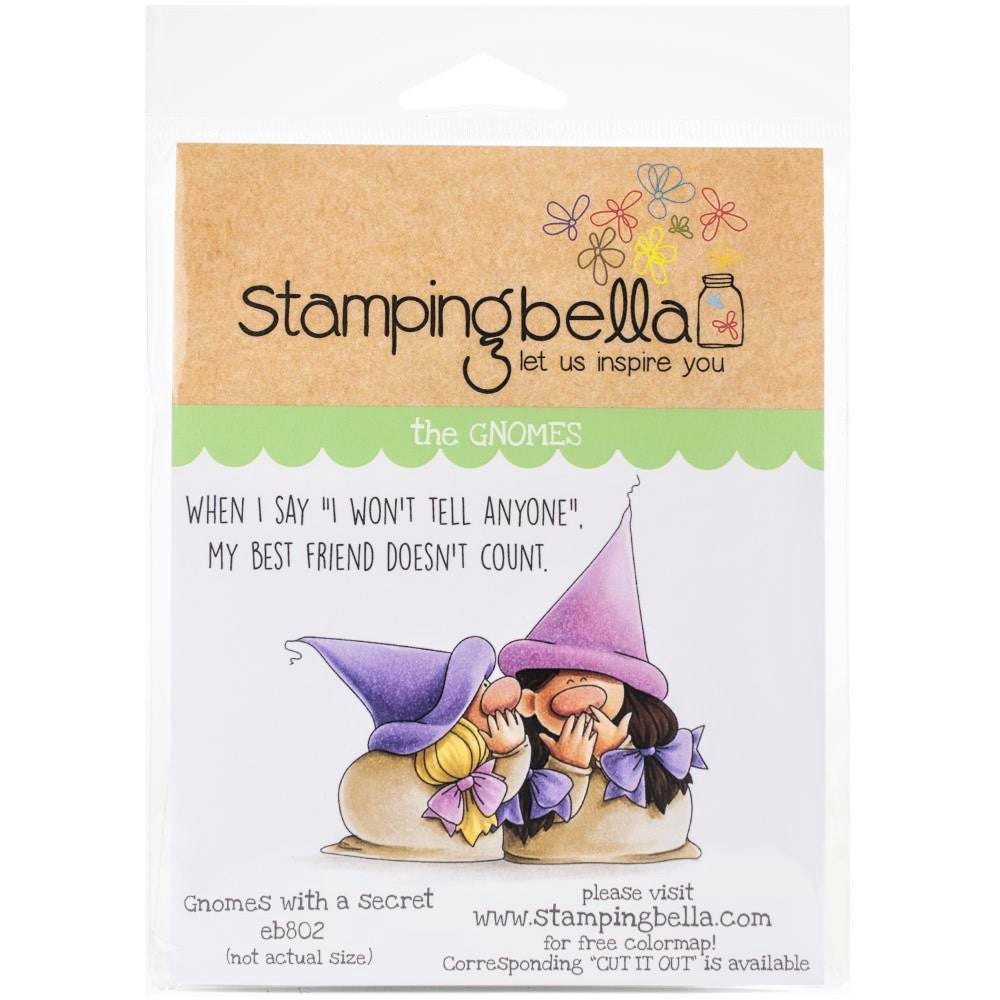 Stamping Bella Gnomes with a Secret - Rubber Stamp Set