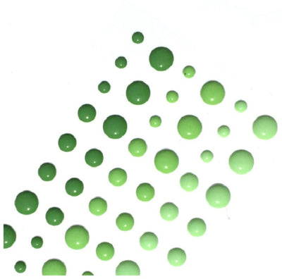 Enamel Dots - Green Shades - Crafty Wizard