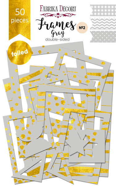 50pcs Gold Foil Grey Photo Frames - Crafty Wizard