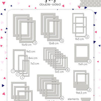 50pcs Grey Photo Frames - Crafty Wizard