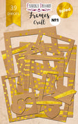 39pcs Gold Foil Eco Brown Photo Frames - Crafty Wizard
