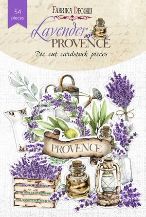 54pcs Lavender Provence die cuts - Crafty Wizard