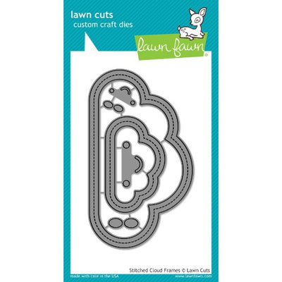 Lawn Fawn - Stitched Cloud Frames Cutting Die - Crafty Wizard