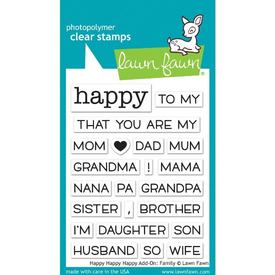 Lawn Fawn - Happy Happy Happy Add-on Family - Clear Stamp Set - Crafty Wizard