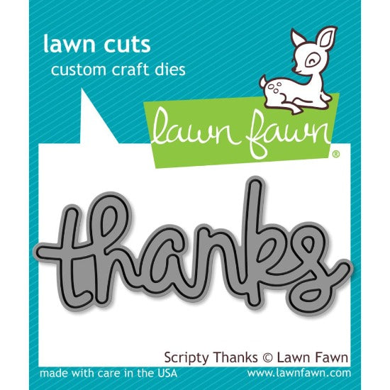 Lawn Fawn - Scripty 'Thanks' Sentiment Cutting Die - Crafty Wizard