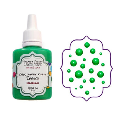 Liquid glass drops - Green - Crafty Wizard