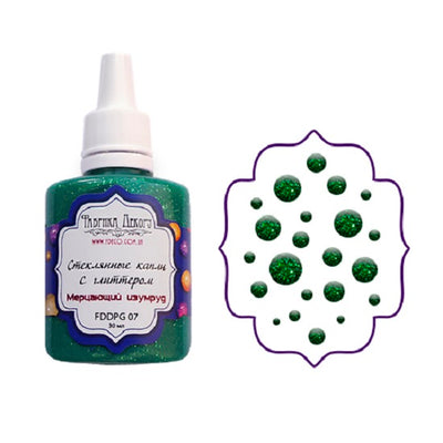 Liquid glass glitter drops - Shimmering emerald - Crafty Wizard