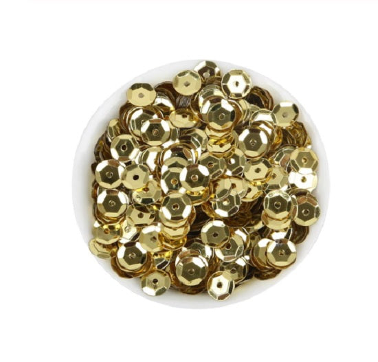 6.5mm Gold sequins - Crafty Wizard