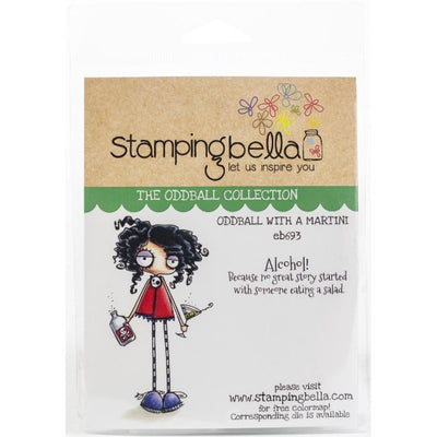 Stamping Bella  - Oddball with a Martini - Rubber Stamp Set - Crafty Wizard