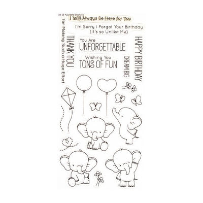 My Favorite Things Birdie Brown - Adorable Elephants - Clear Stamp Set