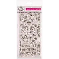 My Favorite Things Birdie Brown - Strike Up The Band- Clear Stamp Set