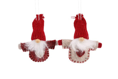 2 Felt Hanging Santas - Crafty Wizard