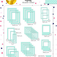 50pcs Gold Foil Mint Green Photo Frames - Crafty Wizard