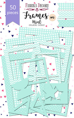 50pcs Mint Green Photo Frames - Crafty Wizard