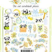 45pcs My Little Panda Boy die cuts - Crafty Wizard