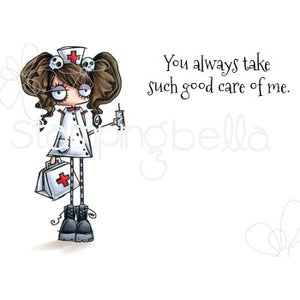 Stamping Bella  - Oddball Nurse - Rubber Stamp Set