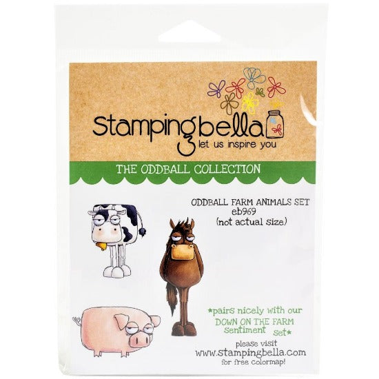 Stamping Bella - Oddball Farm Animals Set - Rubber Stamp Set