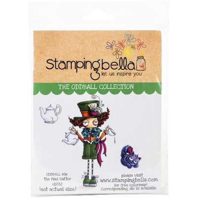 Stamping Bella - Oddball The Mad Hatter - Rubber Stamp Set