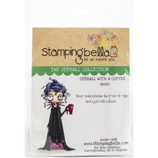 Stamping Bella  - Oddball with a coffee - Rubber Stamp Set - Crafty Wizard