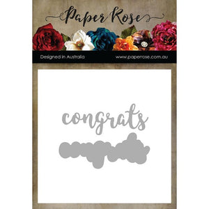 Paper Roses - Layered 'Congrats' Sentiment Cutting Die
