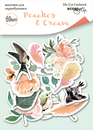 69pcs Peaches & Cream die cuts - Crafty Wizard