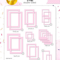 39pcs Gold Foil Pink Photo Frames