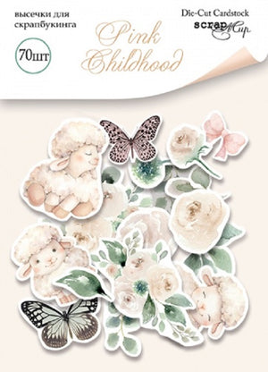 70pcs Pink Childhood die cuts - Crafty Wizard
