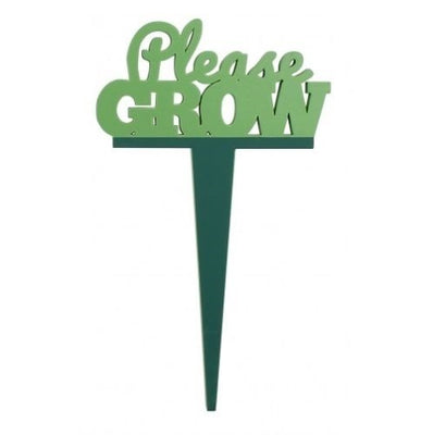 Please grow - Garden marker - Crafty Wizard
