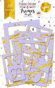 39pcs Gold Foil Lilac Photo Frames - Crafty Wizard
