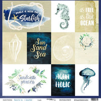 "12"" x 12"" paper pad - Nautical Graphic - Crafty Wizard"