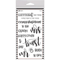 Ranger Letter It - Wedding - Clear Stamp Set - Crafty Wizard