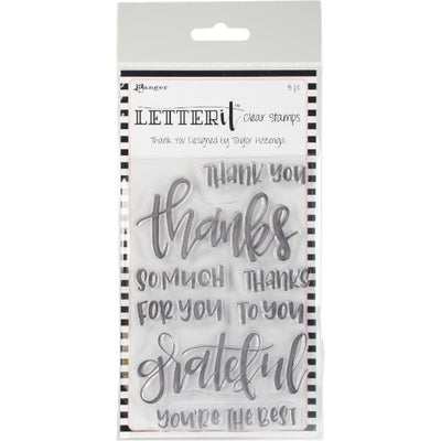 Ranger Letter It - Thank You - Clear Stamp Set - Crafty Wizard